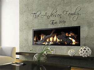 Quot personalized custom family name wall art decal quote