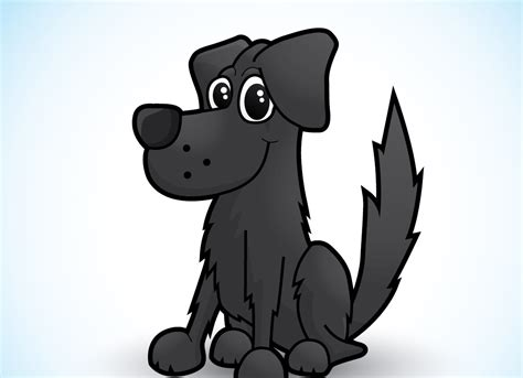 draw  cute vector dog character  illustrator