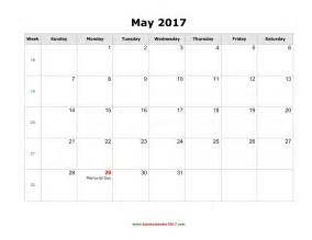 may 2017 calendar with holidays weekly calendar template