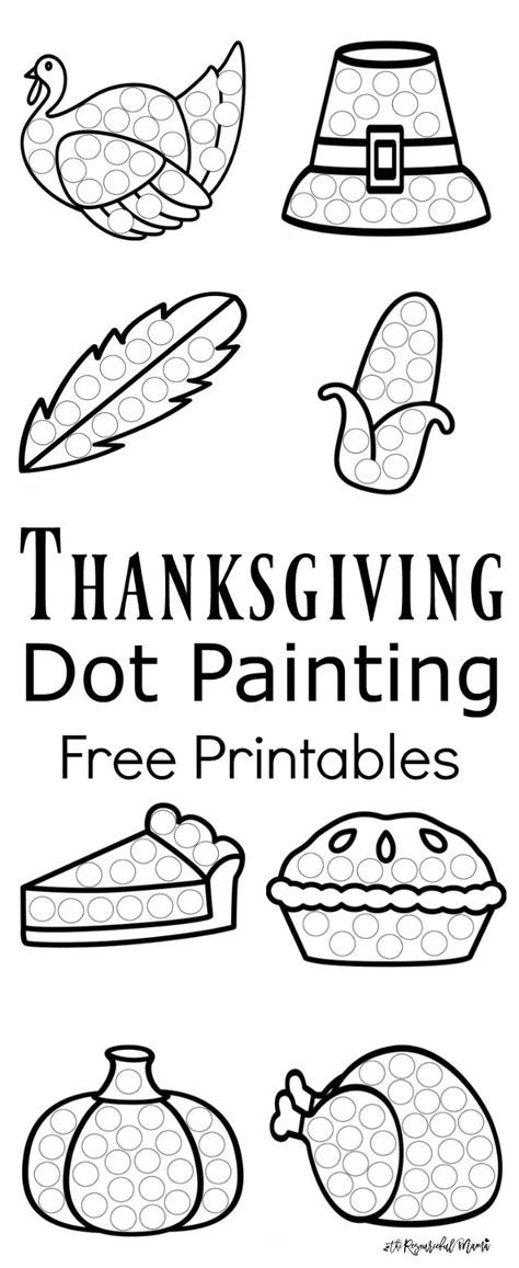 thanksgiving dot painting free printables the 907 | Thanksgiving Dot Painting long collage
