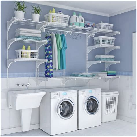 wire shelf washer and dryer choose laundry room shelving that suits your needs and style