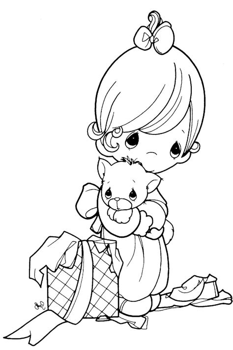 girl  cute dog coloring page  printable coloring pages  kids