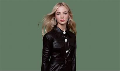 Freya Allan Wallpapers Photoshoot Portrait Actress Leather