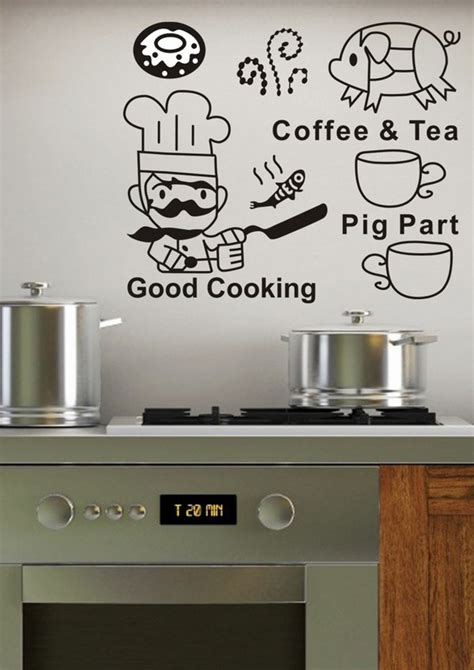 Italian Chef Kitchen Wall Decor by Wall Decals For The Kitchen Eight Beautiful Wall Decal