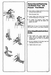Attaching Blindstitch Hem Guide