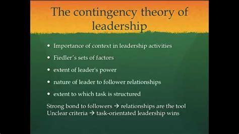 leadership great man theory contingency theory