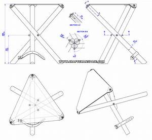 Lote Wood: Plans for folding meditation bench