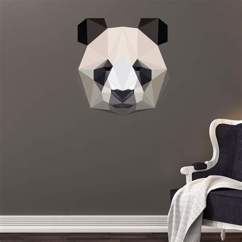 chambre panda sticker origami panda stickers chambre ado garçon