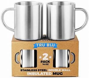Non, Toxic, Mugs, -, Tru, Blue, Steel, Insulated, Stainless, Steel, Coffee, Mugs
