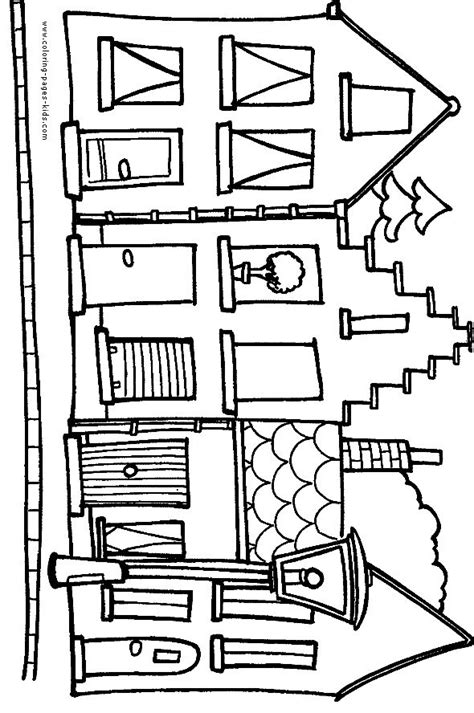 Family Tree 39 S House Collection City Houses Coloring Page Quilting Houses Barns