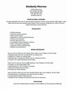 1 hair stylist resume templates try them now With free hair stylist resume templates download