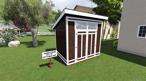 shed plans 8 x 10 8x10 modern shed plan