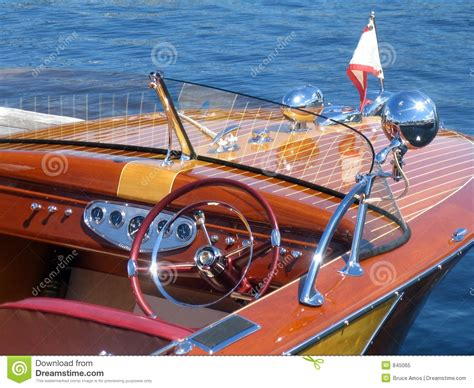 classic wooden boat stock image image  muskoka restore