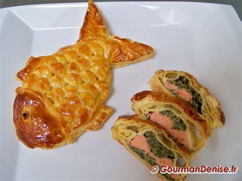 saumon en croute en forme de poissons