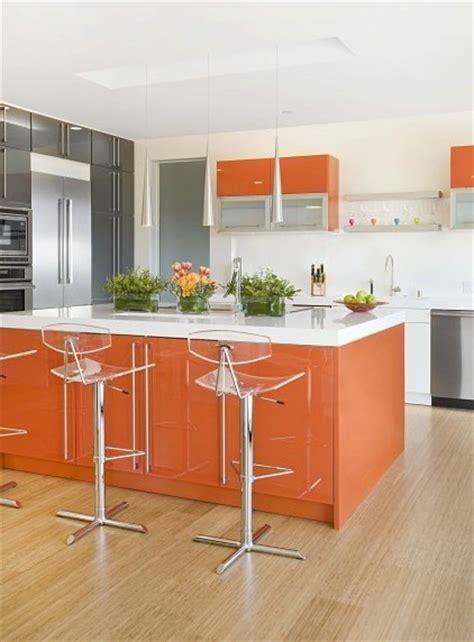 cuisine orange deco cuisine orange blanc