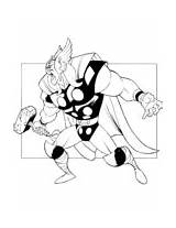 Thor Coloring Hammer Pages Mighty Mjoelnir sketch template