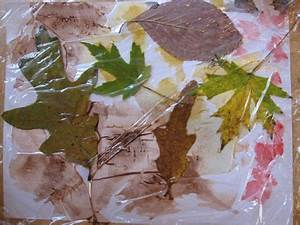 Watercolors, Leaves and Saran Wrap :: A New Way to Make ...