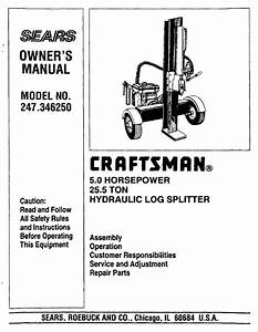 Craftsman 247 346250 User Manual