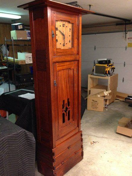 greene  greene grandfather clock woodworking