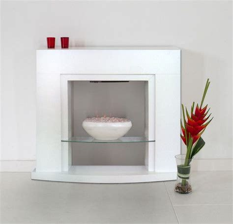 fireplace pebbles electric white grey modern 2kw pebble wall freestanding