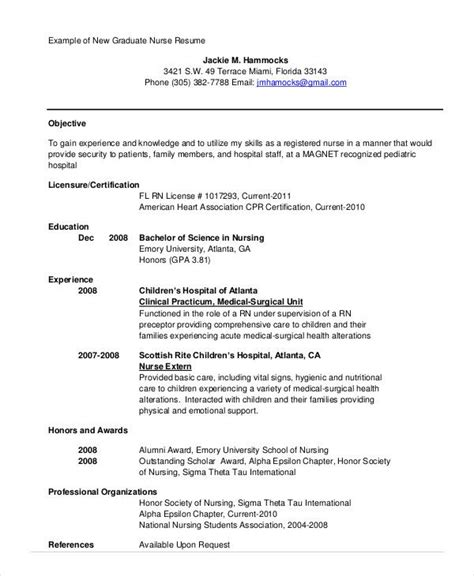 Rn Student Resume by Nursing School Resume Template Recent Graduate Resume
