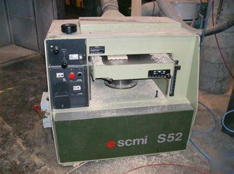 scmi   planer  woodworking machinery