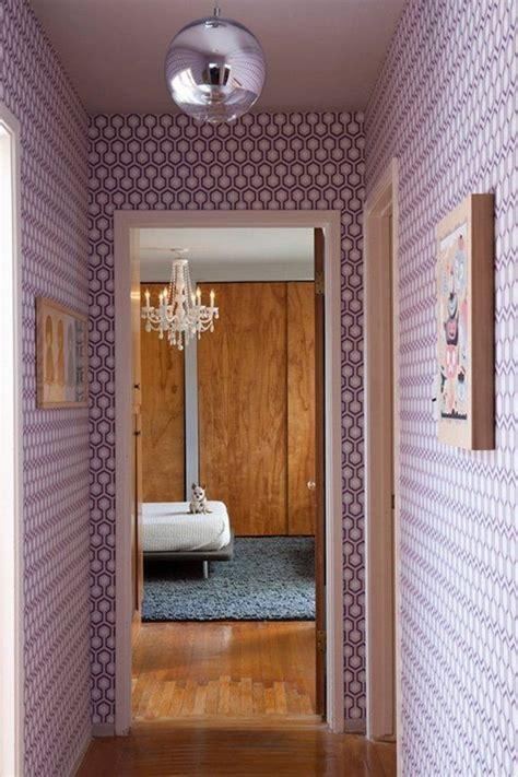 deco couloir avec papier peint