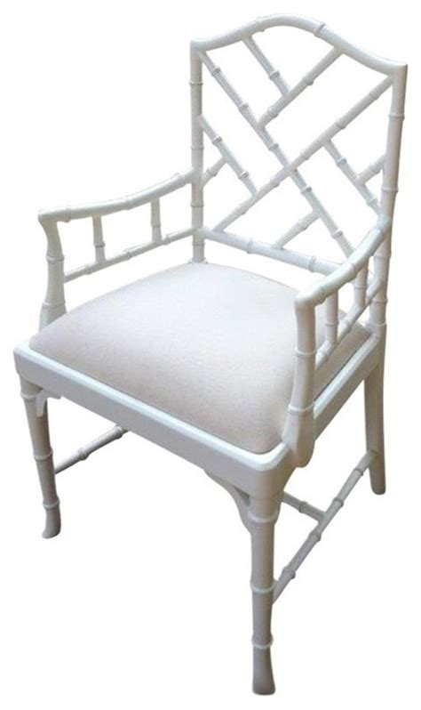 chippendale dining armchair white painted