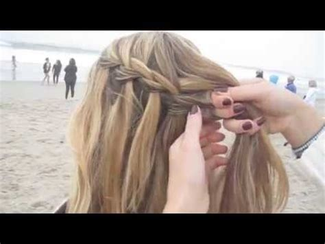 waterfall braid tutorial wasserfallzopf einfach flechten