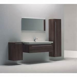 Meuble de salle de bain suspendu bois 120cm Achat / Vente salle de bain complete Meuble de