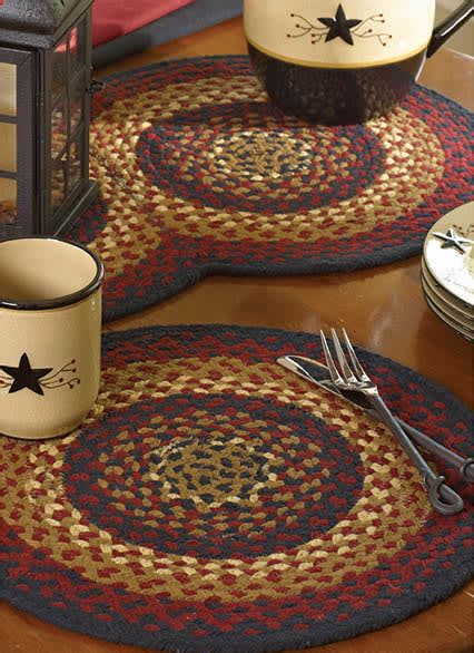 park designs folk art braided placemat tabletop collection