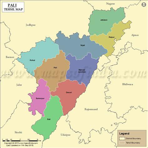 pali tehsil map pali tehsils