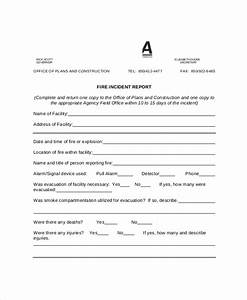 fire incident report example of incident report With fire department incident report template