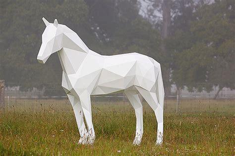 sculptures animales geometriques par ben foster chambre