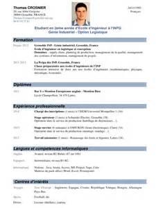 resume en francais prepa cv crosnier gi avec photo pdf par fran 231 oise auzeby fichier pdf