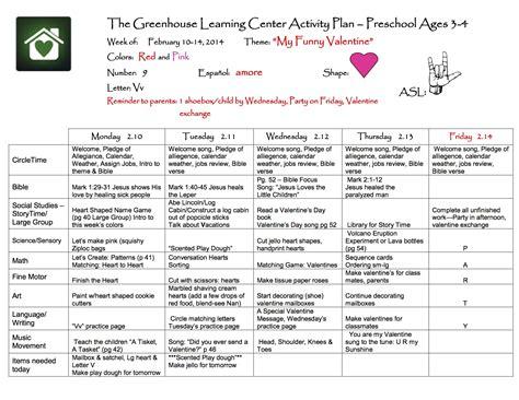 preschool sample curriculum the greenhouse learning center 167 | preschool curriculum