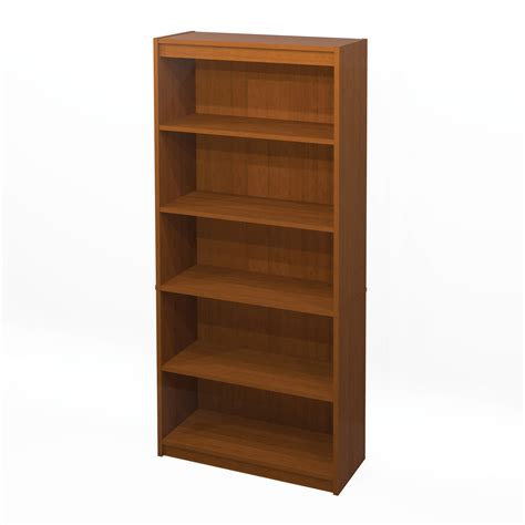 office desk with bookcase and shelving bestar 5 shelf bookcase