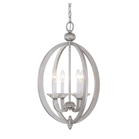 silver lantern pendant light savoy house forum silver sparkle four light foyer pendant