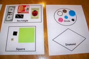 Math Center Preschool Shapes