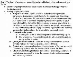 How To Write A Conclusion To A Literary Essay Quora