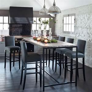 Table Cuisine Grise : table salle a manger haute table cuisine grise maisonjoffrois ~ Teatrodelosmanantiales.com Idées de Décoration