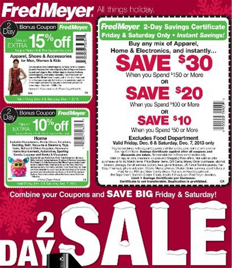fred meyer fresh christmas trees fred meyer 2 day sale 12 6 12 7 frugal living nw