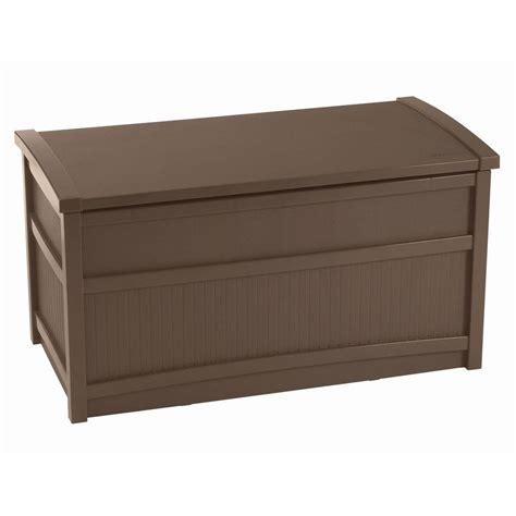 Suncast Deck Box Home Depot by Suncast 50 Gal Resin Deck Box Db5000b The Home Depot