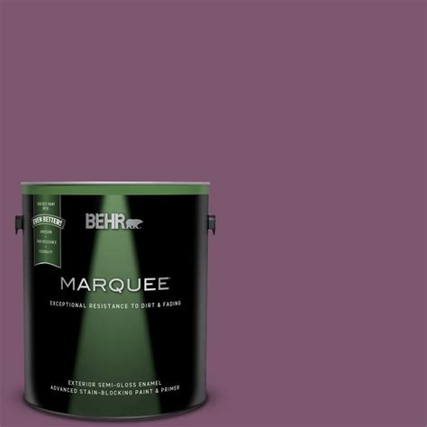 behr marquee 1 gal m110 7 euphoric magenta gloss enamel exterior paint and primer in one