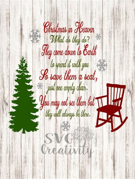 Christmas In Heaven Poem Svg – 215+ SVG File for Cricut