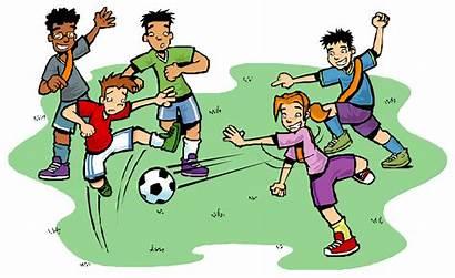 Soccer Team Clipart Football Playing Children Clipartpanda
