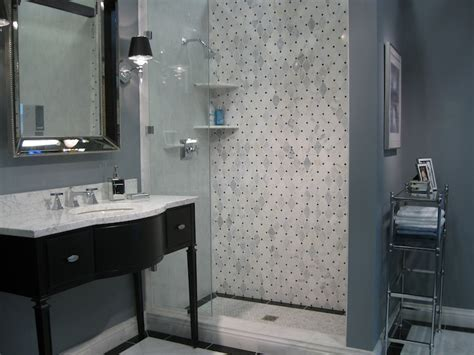 gray blue bathroom ideas black washstand transitional bathroom