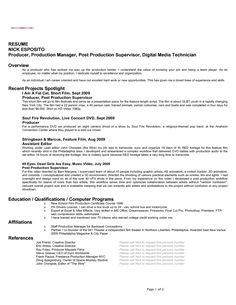 Producer Resume Profile by General Services Company Profile Sle Reference Letter Sle For Operating Room
