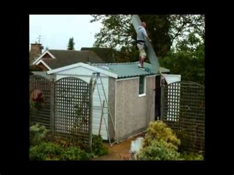 safely remove  asbestos garage roof youtube