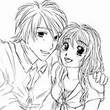 Couple Anime Coloring Drawing Couples Chibi Cuddling Emo Sketch Kissing Drawings Deviantart Template Templates Manga Printable Animation Getcolorings Cooold Drawn sketch template